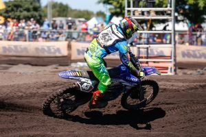Evans lands on podium after impressive MX2 rookie season